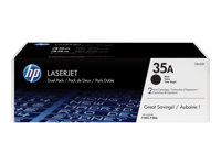 CB435AD - HP 35A - 2-pack - black - original - LaserJet - toner cartridge (CB435AD) - for LaserJet P1005, P1006, P1007, P1008, P1009 CB435AD