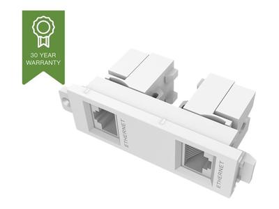 TC3 2RJ45 - VISION TechConnect 3 Twin RJ45 module - Modular