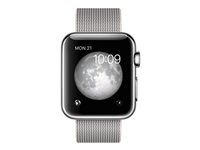 MMFH2B/A - Apple Watch Original - 38 mm - stainless steel - smart watch with band - woven nylon - pearl - band size 125-195 mm - Wi-Fi, Bluetooth - 40 g MMFH2B/A