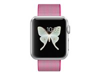 MMF32B/A - Apple Watch Sport - 38 mm - silver aluminium - smart watch with band - woven nylon - pink - band size 125-195 mm - Wi-Fi, Bluetooth - 25 g MMF32B/A