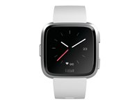 FB415SRWT - Fitbit Versa - Lite Edition - silver aluminium - smart watch with band - silicone - white - band size 140-220 mm - S/L - Bluetooth - 40 g FB415SRWT